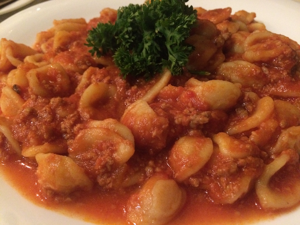 Orecchiette with Ragu in Apulia Region of Italy