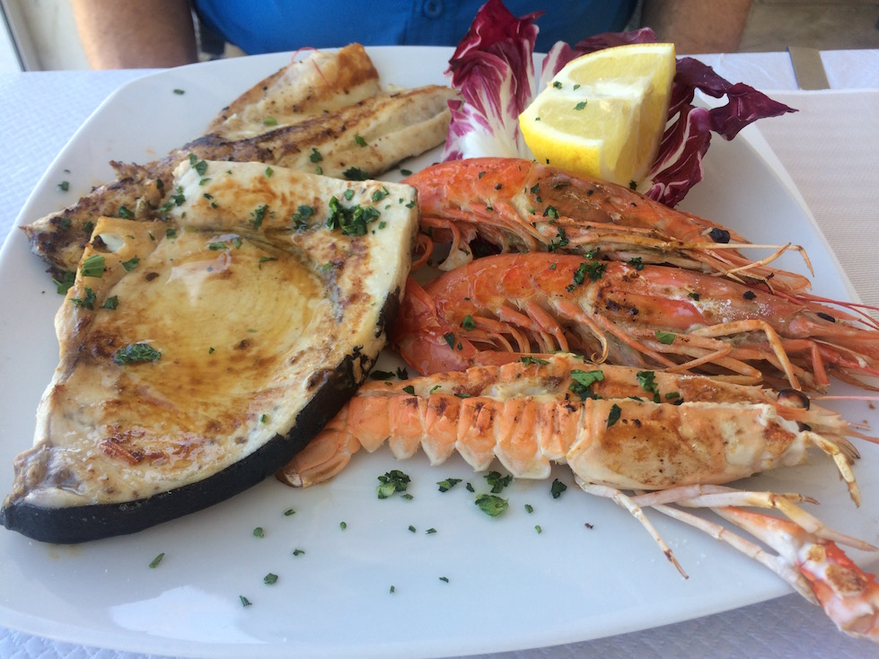 Plate of Fish in Otranto Italy