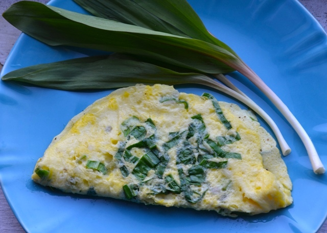 Turkey Egg Omelette and Ramps