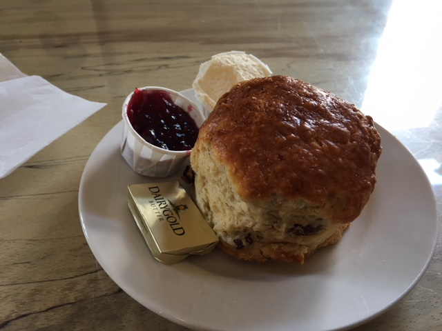 Irish Scone with Jam, Butter and Cream
