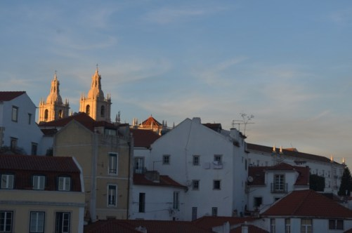 Sunset in Alfama Neighborhood Lisbon