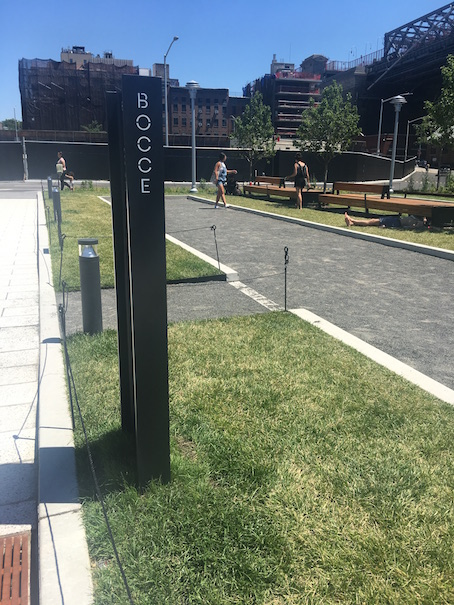 Bocce Ball Court at Domino Park