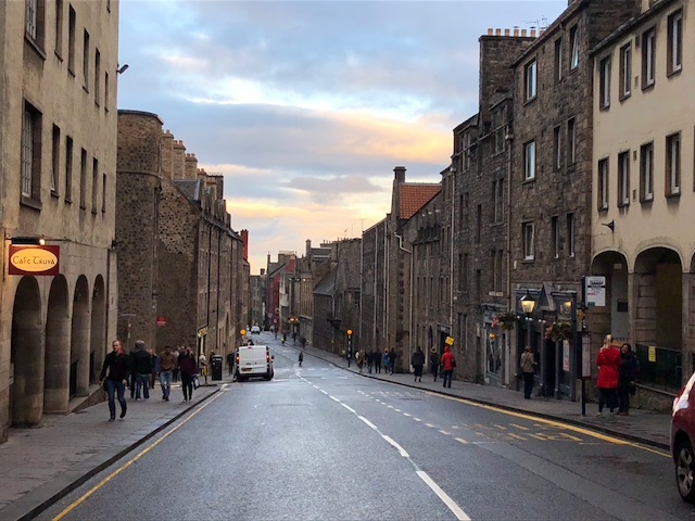 Dusk in Edinburgh