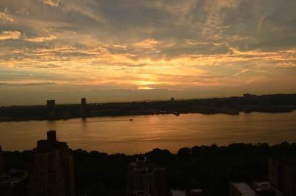 Summer Sunet Over The Hudson River