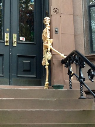 Decorated Brownstones for Halloween