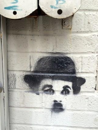 Charlie Chaplin Street Art in Williamsburg Brooklyn