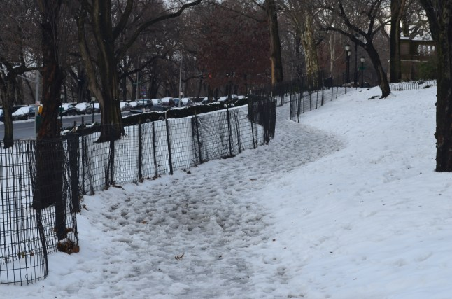 Slushy Path in Riverside Park