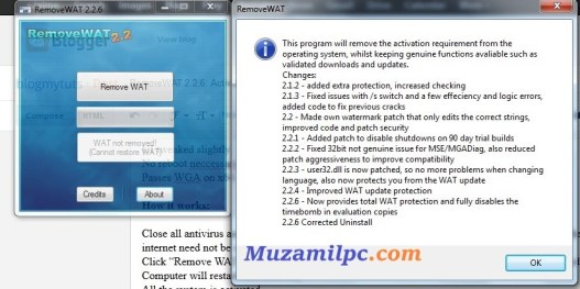 RemoveWAT 2.2.9 Crack Activator For All Windows Free Download