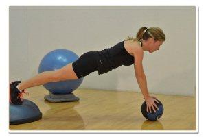 bosu balance medicine ball