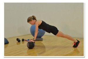 med ball pushups