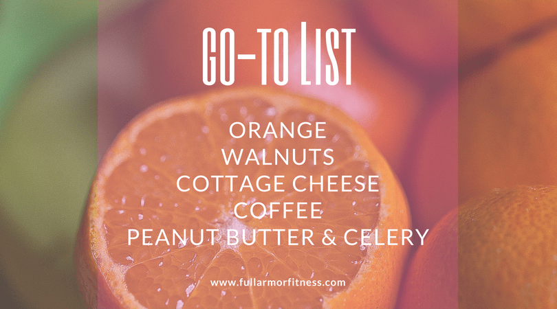 go to list oranges
