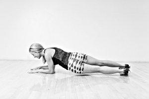 Plank Hip Dips