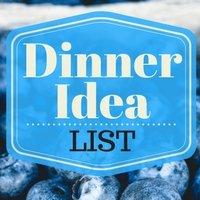 Dinner idea list