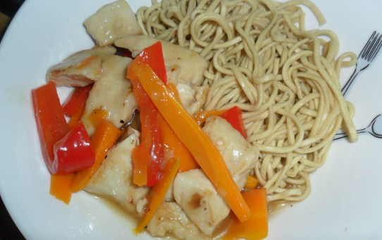 Sticky Lemon Chicken with Noodles
