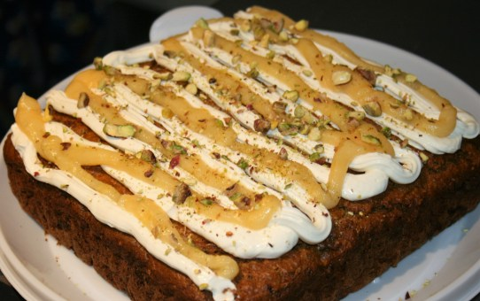 Pistachio, courgette and lemon cake (reduced sugar low carb version)