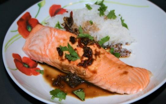 Thai grilled salmon