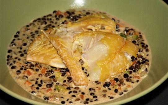 Nigel Slater's smoked haddock with creamed lentils