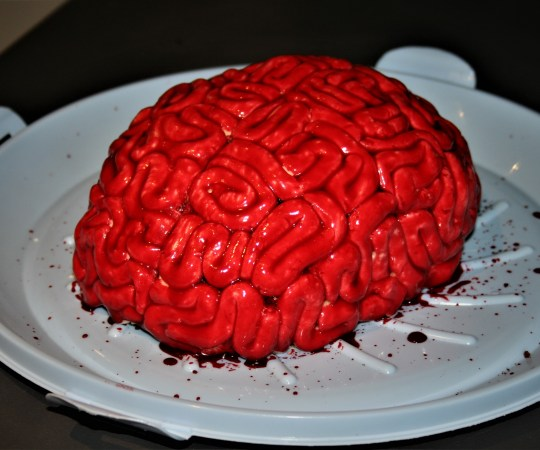 Halloween baking: Red velvet brain cake