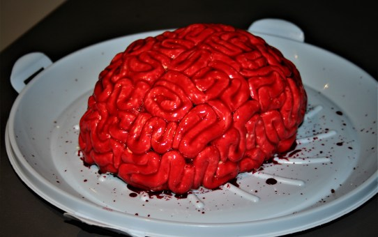 Halloween baking: Red velvet brain cake