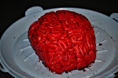 Red velvet halloween cake
