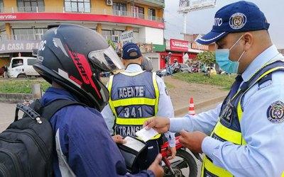 Operativos de control para uso adecuado del casco