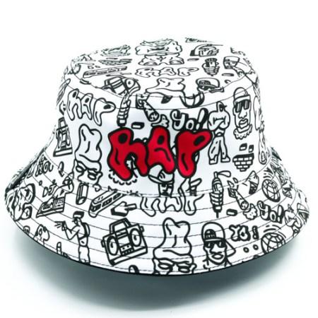 White Rap Bucket Full Caps