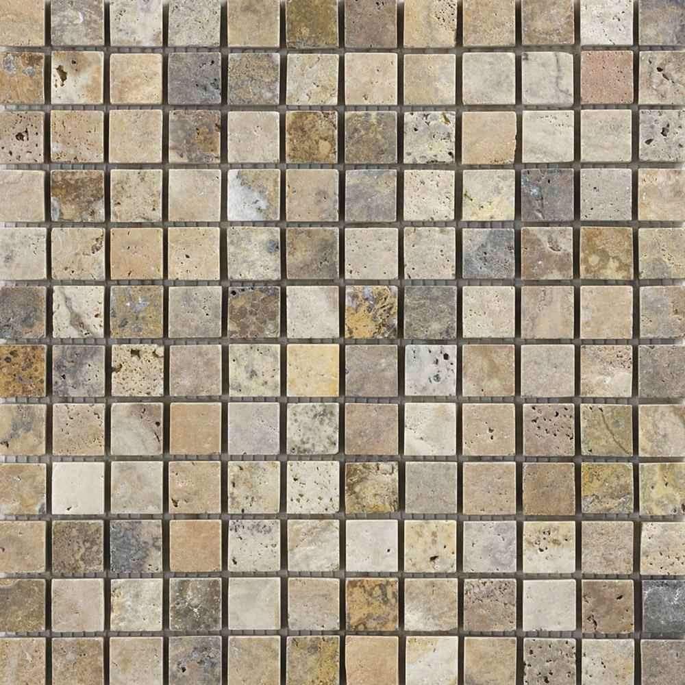andorra stone mosaic tiles floor and