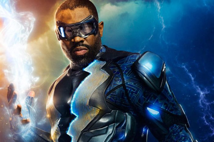 Cress Williams Dons New Suit In 'Black Lightning' Set Photo