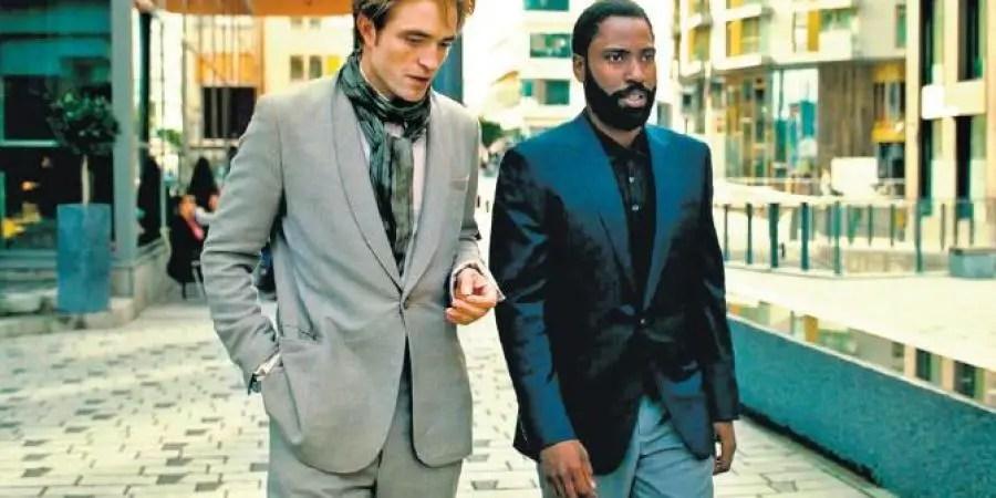 Tenet - Robert Pattinson and John David Washington walking