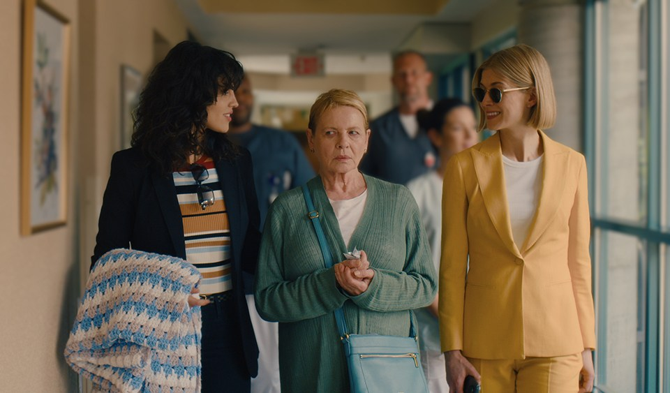 Netflix - I Care a Lot - Rosamund Pike, Eiza Gonzalez, and Dianne Weist