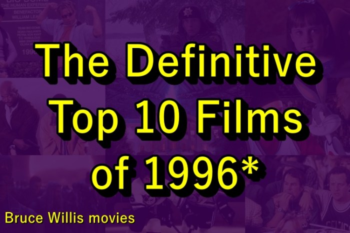 The Definitive Top 10 Films of 1996