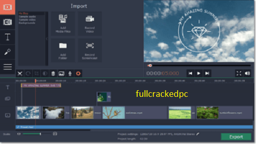 Movavi Video Editor Plus 21.1.0 Crack + Activation Key Download 2021
