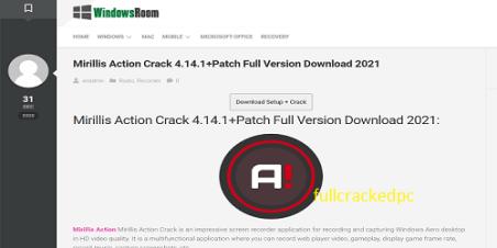 Mirillis Action 4.16.0 Crack + Full Version Free Download 2021