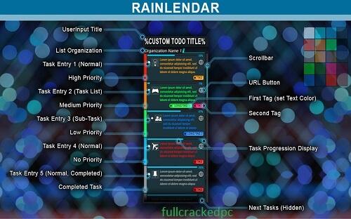 Rainlendar Pro 2.16.1 Build 168 Crack + Keygen Key Free Download 2021