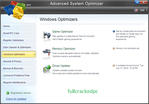 Advanced System Optimizer 3.9.3645.18056 Crack + Serial Key Download