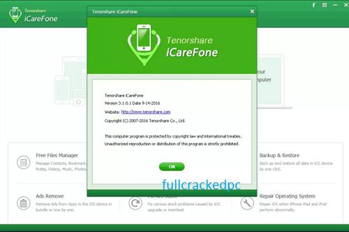 Tenorshare iCareFone 7.6.3.1 Crack + Serial Key 2021 Full [Latest]