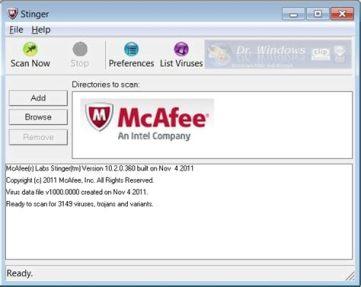 McAfee Labs Stinger 12.1.0.2817