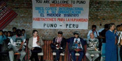 Millard Fuller at celebration in Puno, Peru