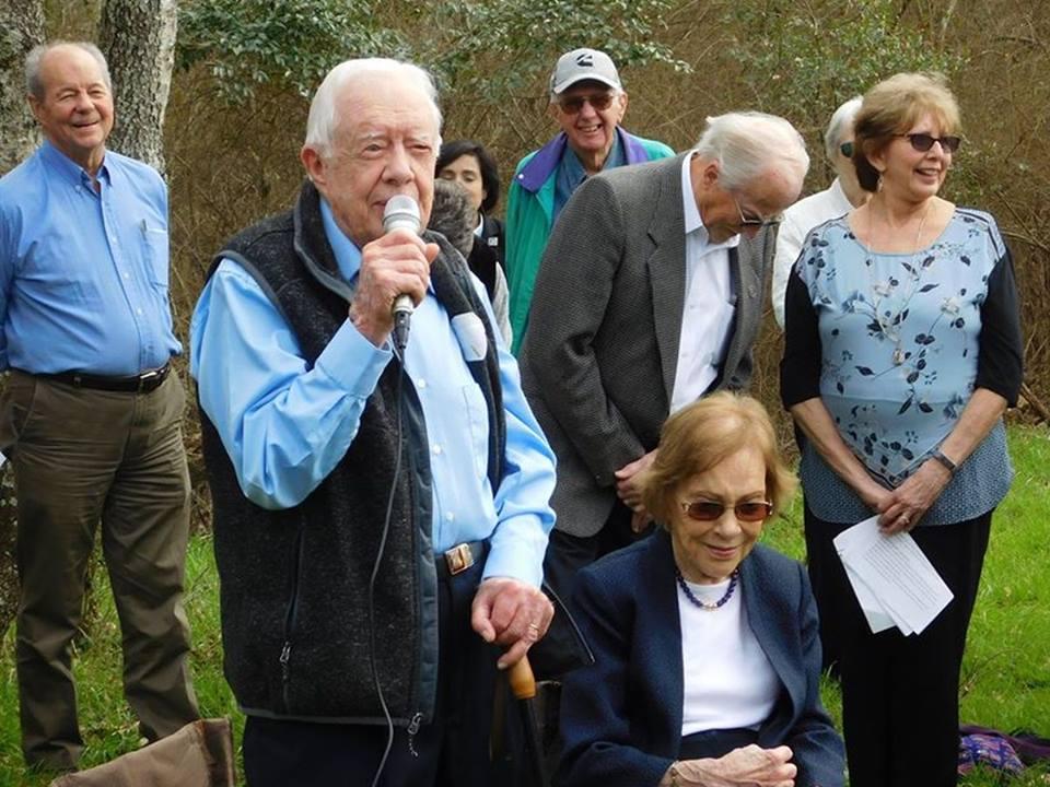 President Carter speaks at a memorial marking 10 years since the passing of Millard Fuller