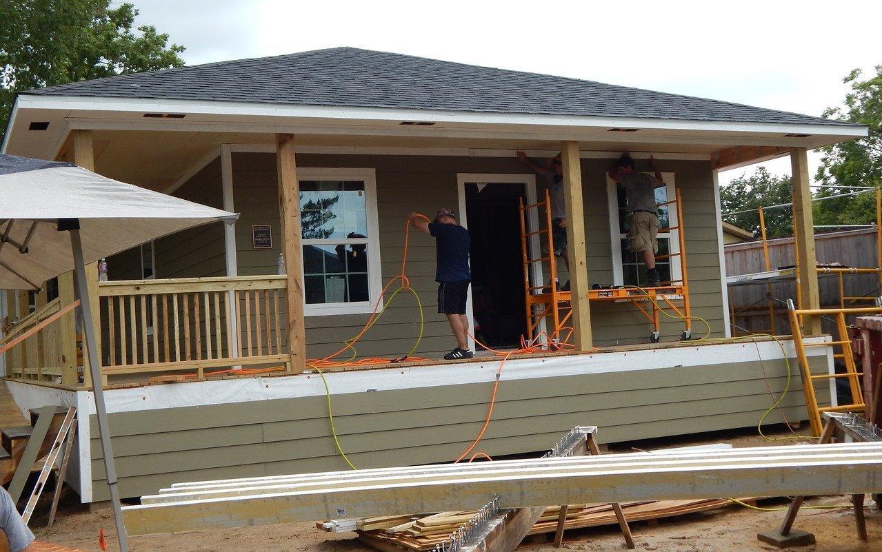 The Disaster ReBuilders' Brenda Barton Memorial Build in Dickinson, Texas.