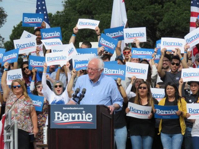 Bernie Sanders Rally In Santa Ana