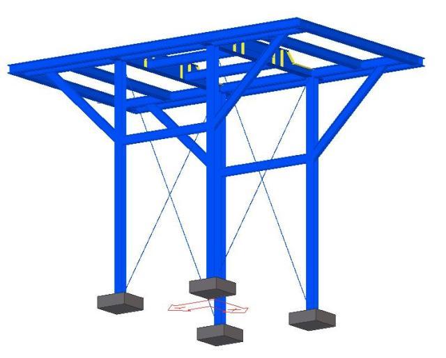 Modelo 3D - Estrutura Metálica do Desaerador