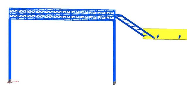 Modelo 3D - Estrutura Metálica Bandejamento