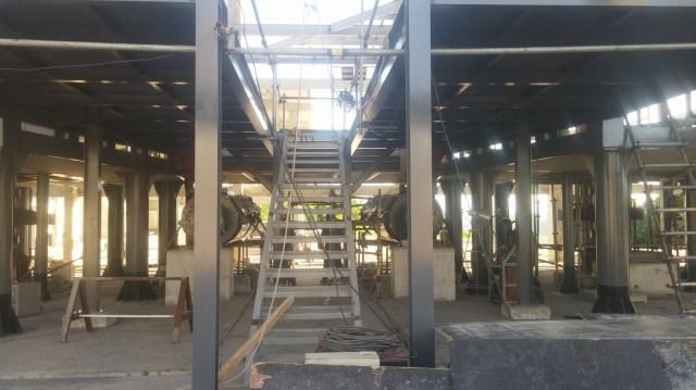 Detalhe da Escada Metálica construída