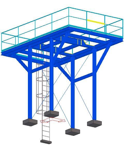 Modelo 3D - Estrutura do Desaerador