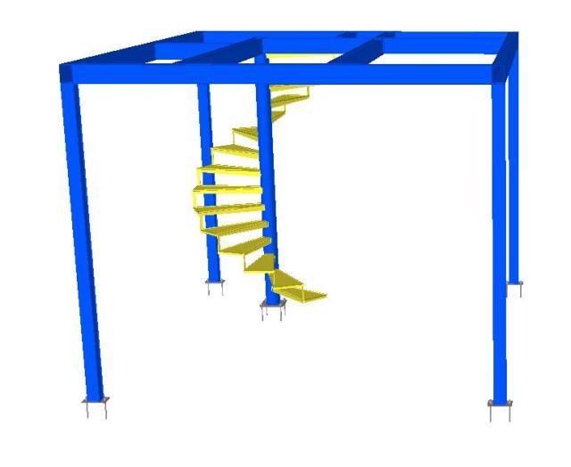 Modelo 3D - Mezanino de Estrutura Metálica