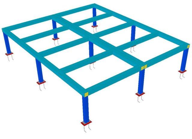Modelo 3D - Estrutura Metálica para Suporte do Container