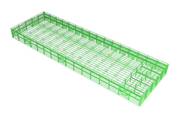 Modelo 3D - Galpão de Estrutura Metálica