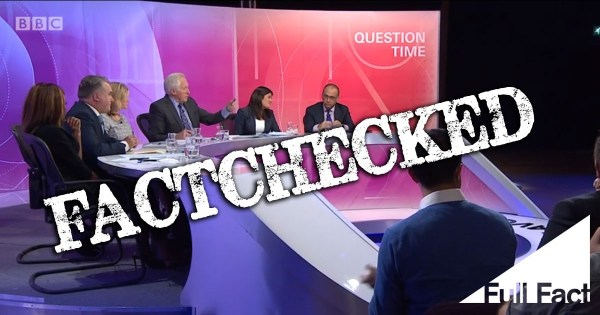 18 February's BBC Question Time, factchecked - Full Fact