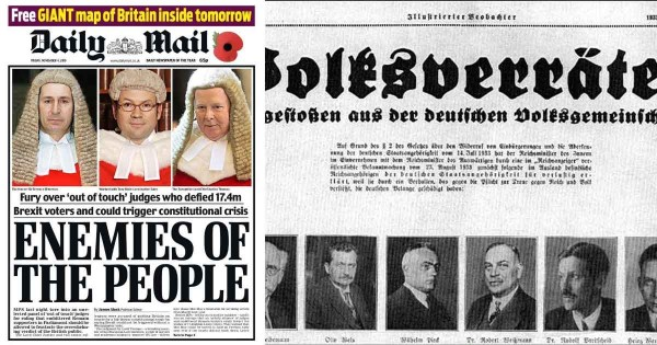 "The Daily Mail, ""enemies of the people"", and a Nazi ..."